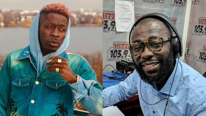 Andy Dosty calls Shatta Wale live whiles performing at Aburi Girls'